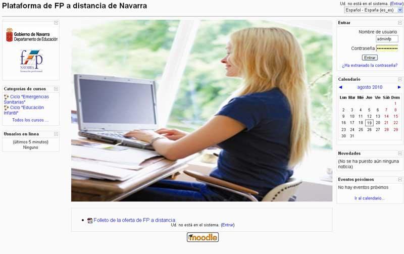 Plataforma online para Formación Profesional