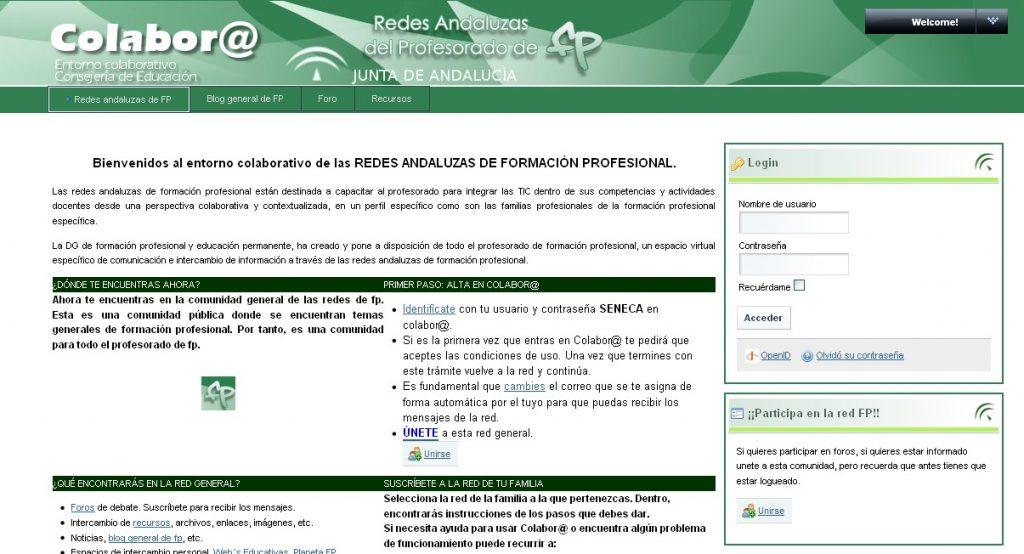 Redes de formación profesional de Andalucía