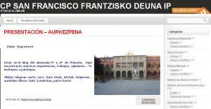 experiencia tic colegio público San francisco - Pamplona