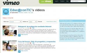 canal de videotutoriales de educacontic