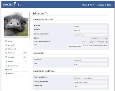 social lab perfil