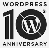 Logotipo del décimo aniversario de WordPress