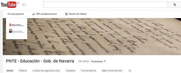 Canal PNTE en YouTube