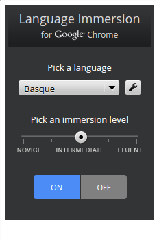 ExtensiónLanguage Immersion for Chrome