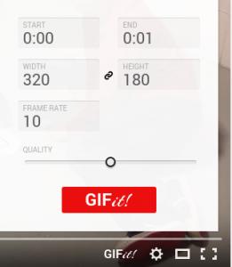 GIFit! botón en Youtube