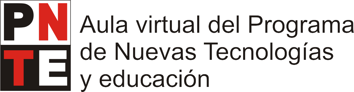 Aula virtual del Programa de Nuevas Tecnologías y Educación