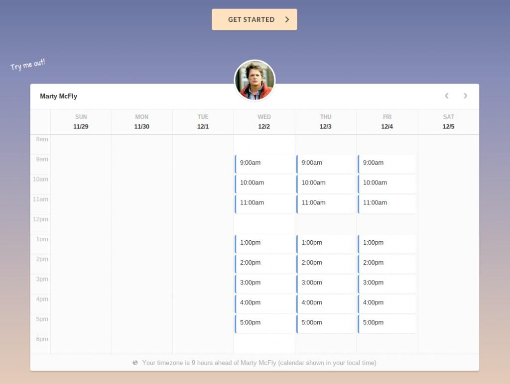 Booking.js, widget para organizar reuniones