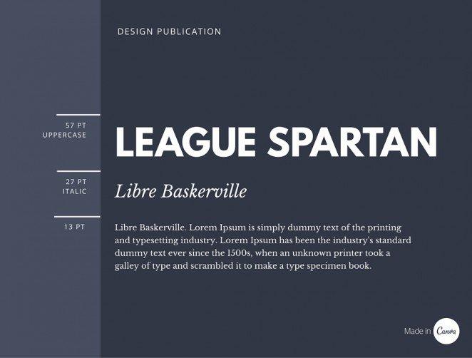 Fuentes utilizadas: Liga Spartan y Libre Baskerville