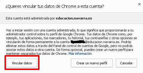 Vincular datos de Chrome