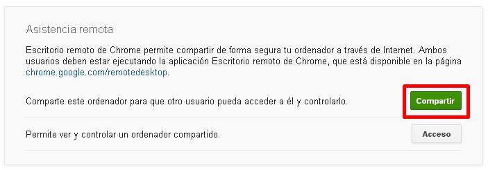Compartir un ordenador con otro usuario para recibir asistencia técnica