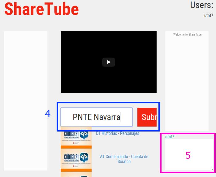 Funcionamiento de ShareTube