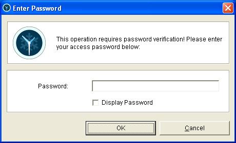 Acceso a ToolWiz protegido con contraseña