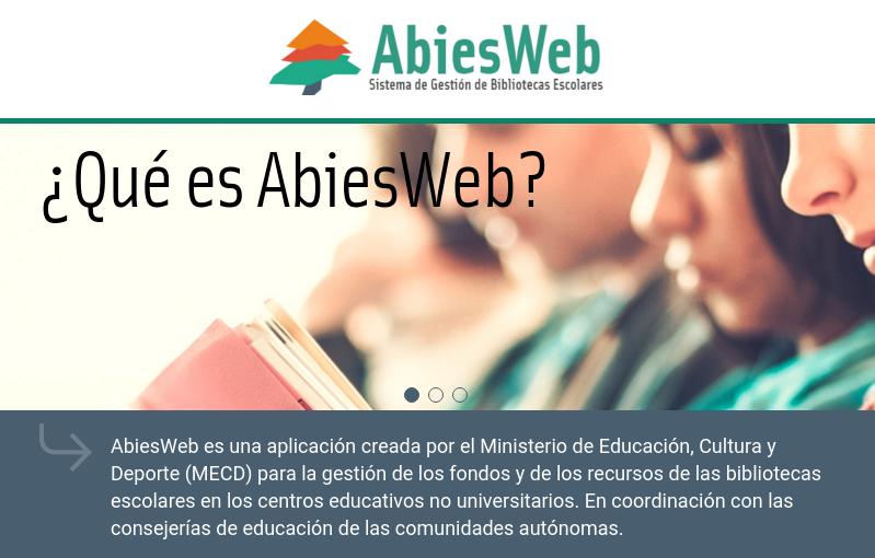 AbiesWeb, gestión de bibliotecas escolares