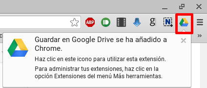 Icono Guardar en Google Drive