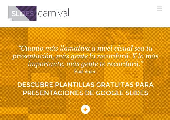 Slides Carnival, plantillas gratuitas para Presentaciones de Google