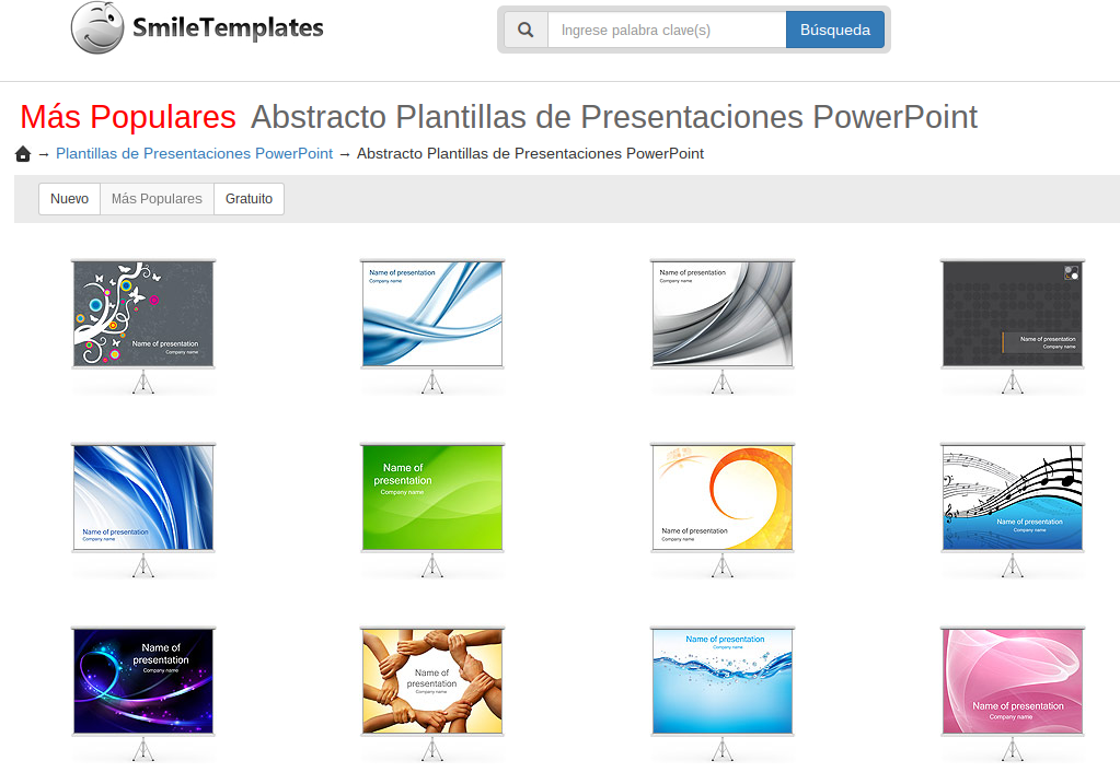 SmileTemplates, plantillas gratuitas de Microsoft PowerPoint