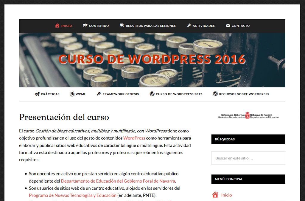 Curso de WordPress 2016
