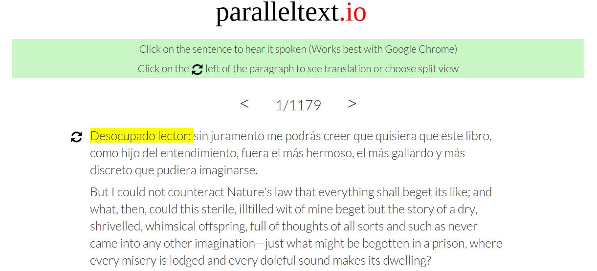 Funciones de paralleltext.io