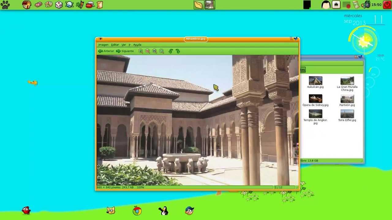 Interfaz del PicarOS Diego 2013