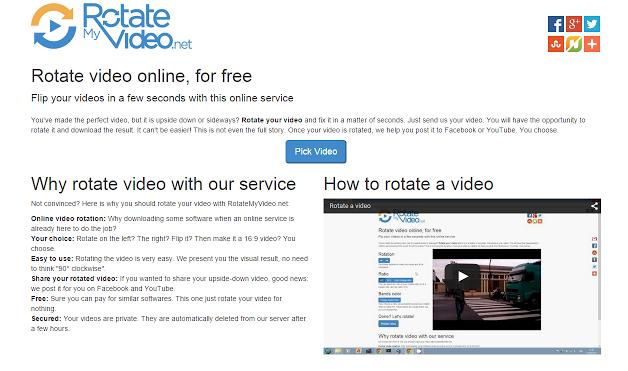 RotateMyVideo, aplicación web para girar vídeos