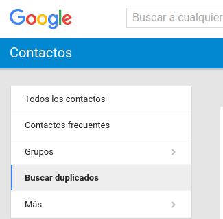 Buscar duplicados en Contactos de Google