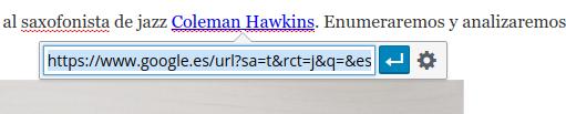 Nueva forma de introducción de los enlaces