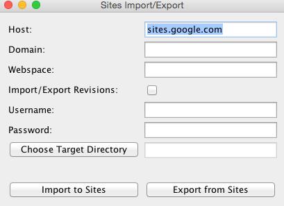 Sites_Import_Export