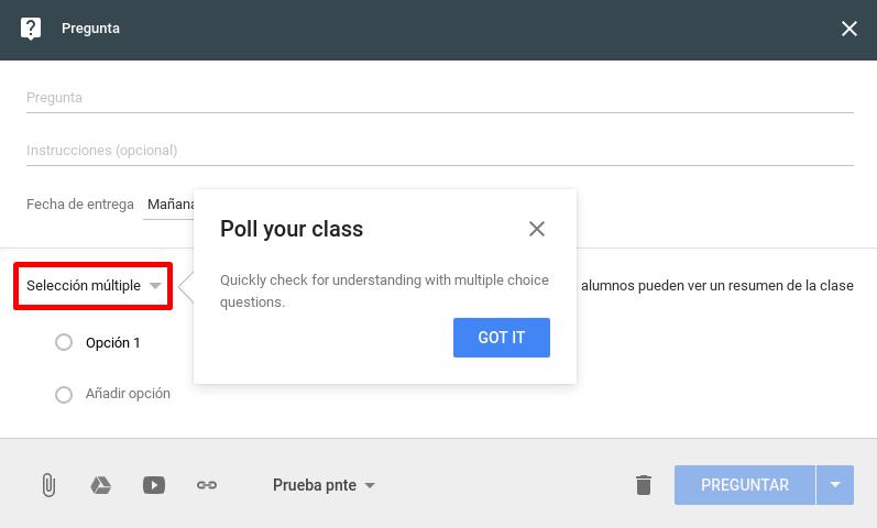 Encuestas con Google Classroom