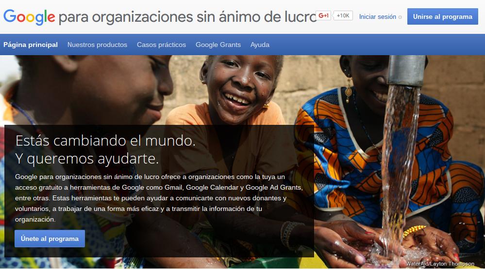 Productos de Google para las ONGs