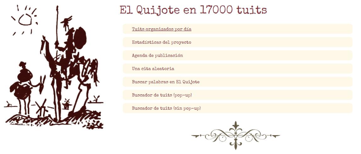 El Quijote en 17000 tuits