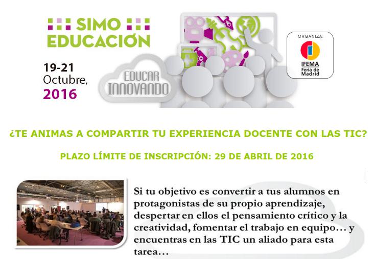¿Te animas a compartir tu experiencia docente en SIMO 2016?