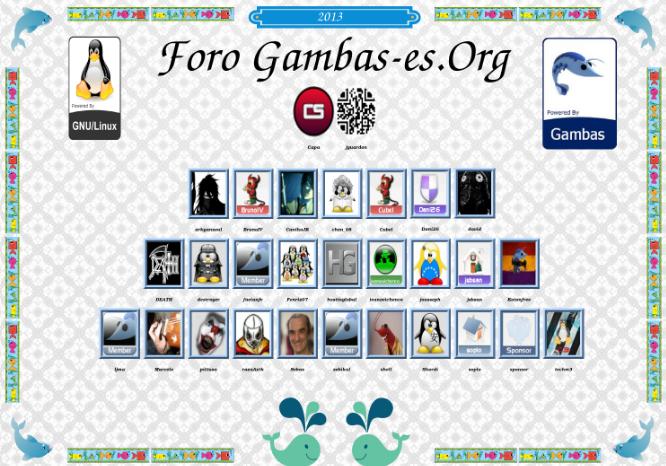 Ejemplo de orla del foro gambas-es.org