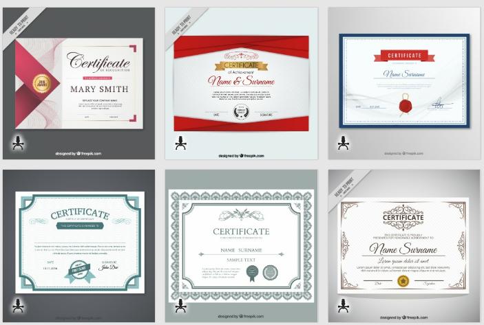 Diplomas en freepik