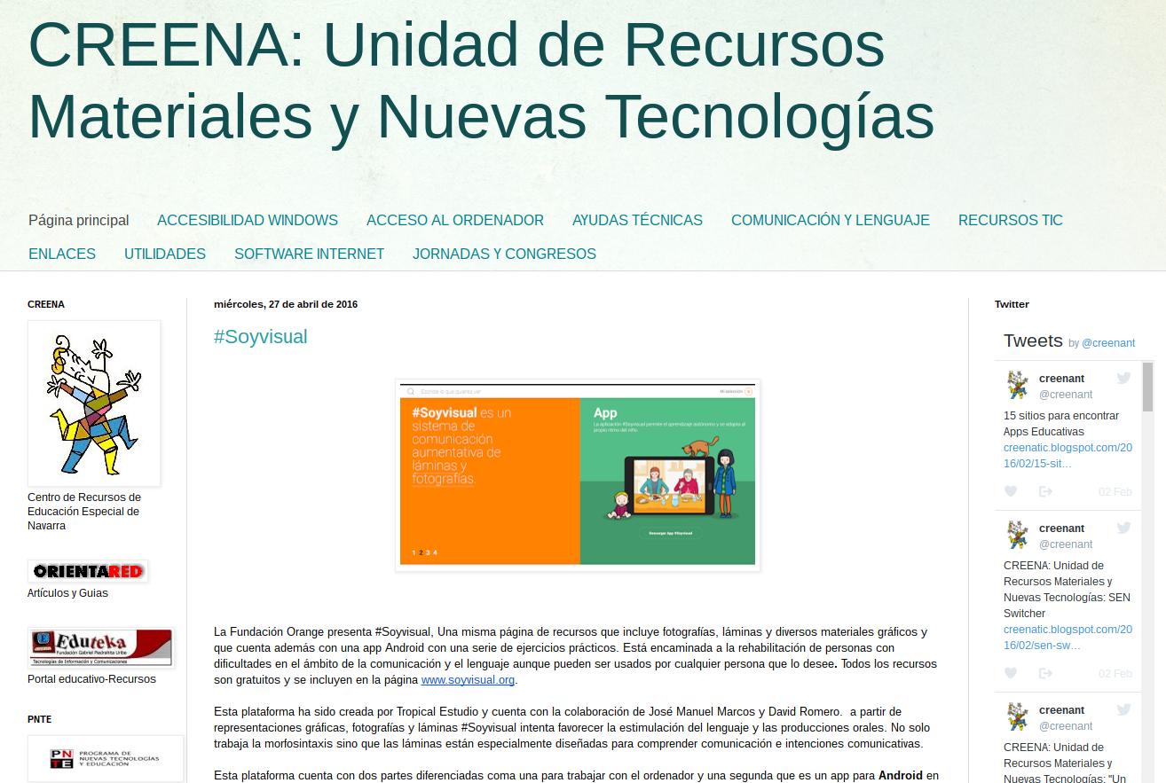 CREENA: Unidad de Recursos Materiales y Nuevas Tecnologías
