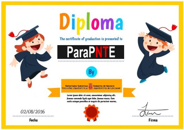 Ejemplo de diploma con plantilla