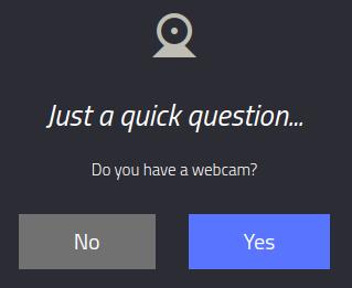 ¿Tienes conectada una webcam?