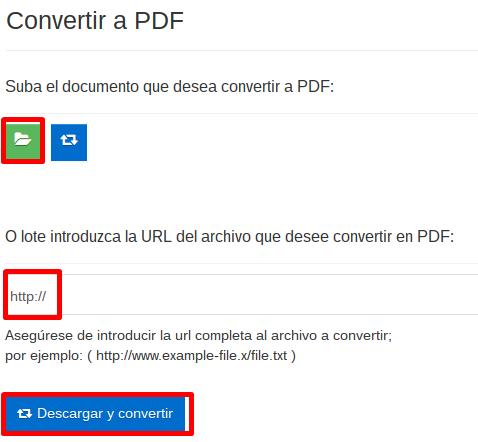 Proceso de conversión con Office Converter