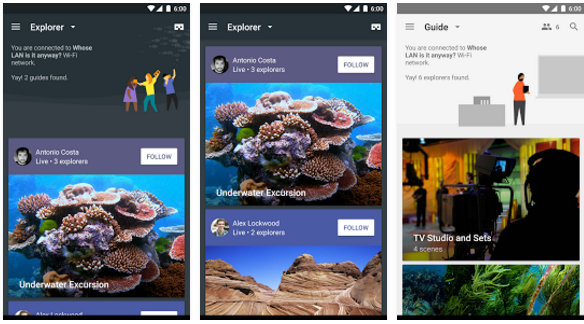Google Expeditions. Imagen de la app en Google Play
