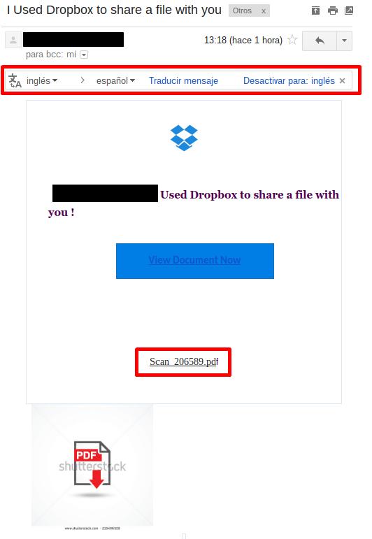 Ejemplo real de phishing