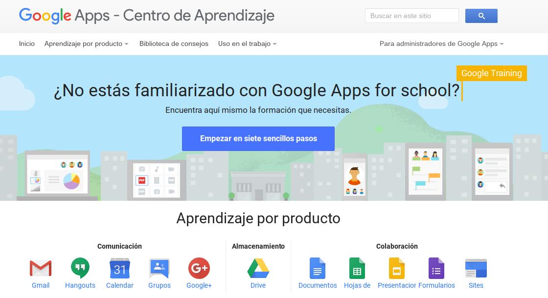 Centro de Aprendizaje de Google Apps