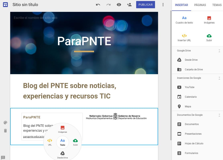 ParaPNTE ha probado el nuevo Google Sites