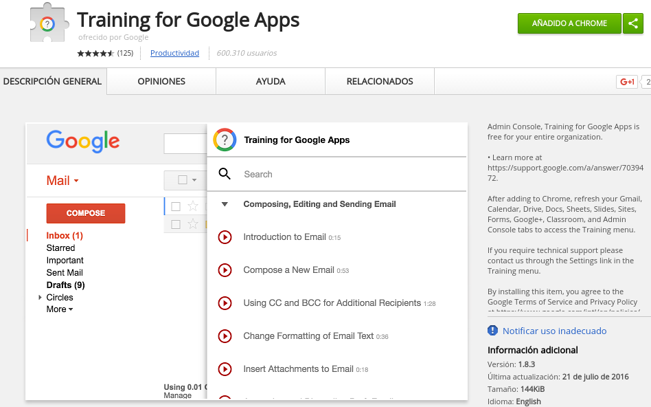 Training for Google Apps