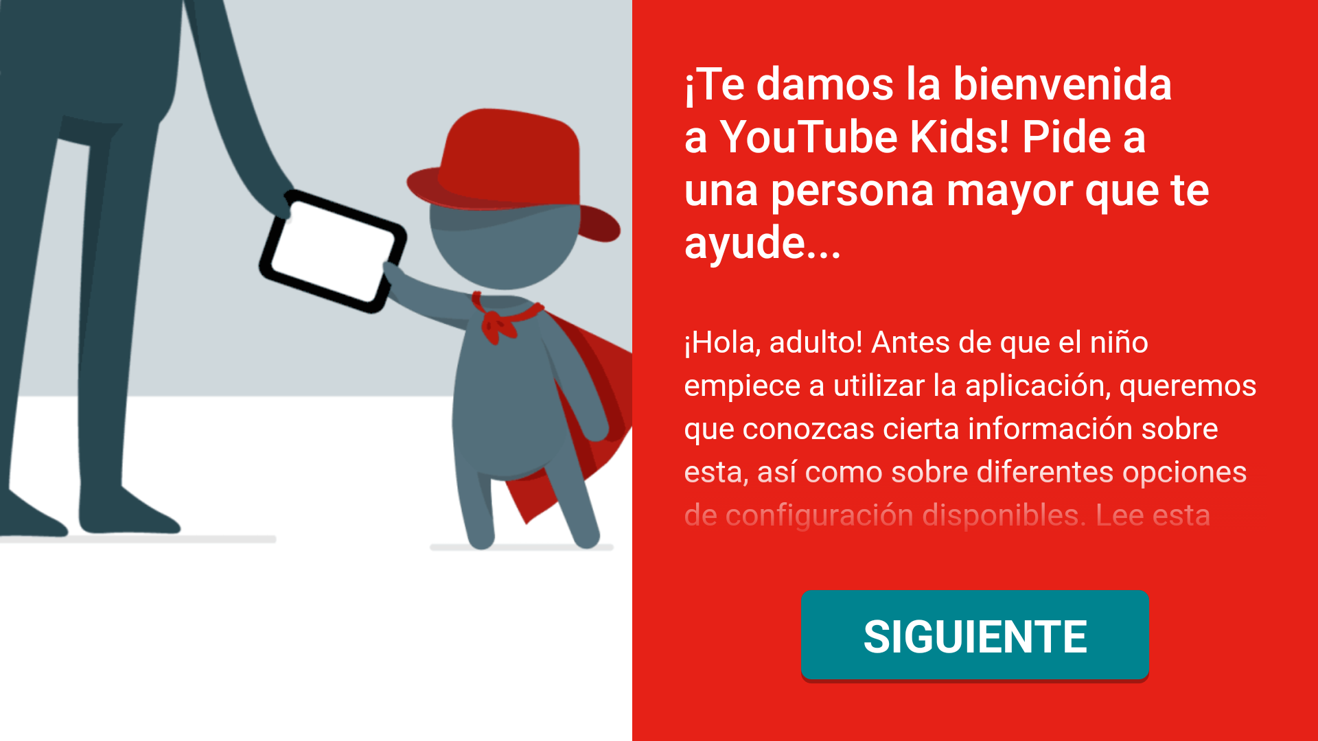 Configuración inicial de YouTube Kids