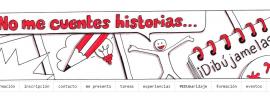 Captura de pantalla del blog: No me cuentes historias, dibújamelas