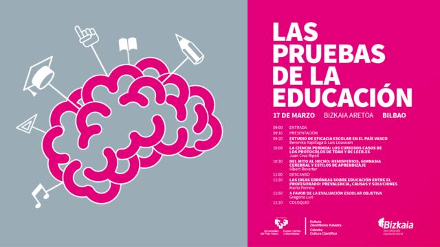 """Cartel de la jornada """"Las pruebas de la educación"""""""