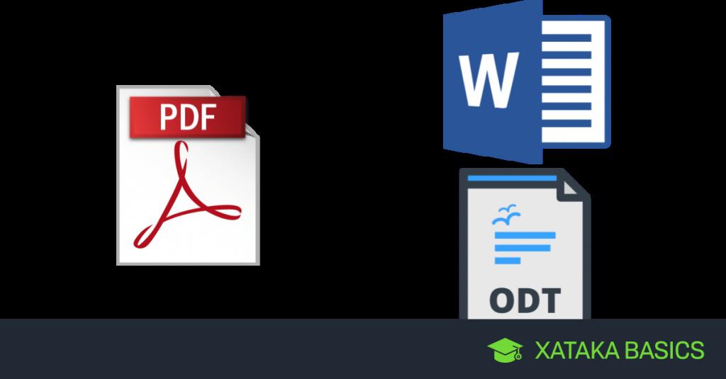 Xataka, convertir PDF a documento de texto editable