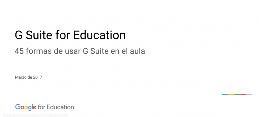45 usos de G Suite