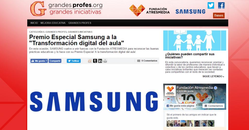 Captura de pantalla de la página de ATRESMEDIA