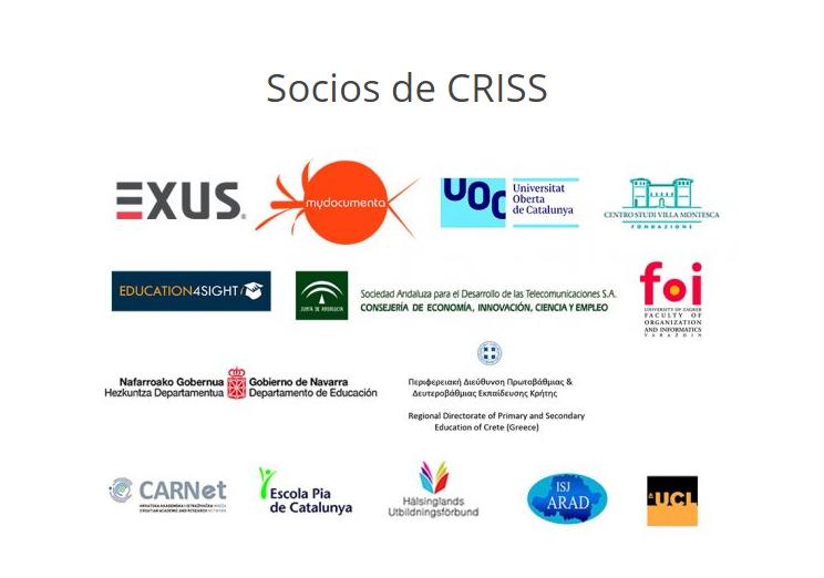 Socios proyecto CRISS